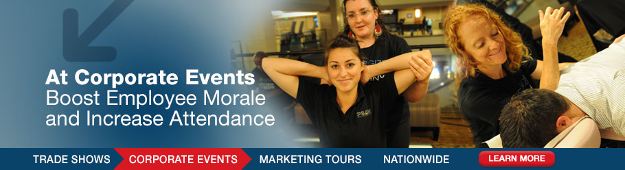 At Corporate Events - Boost Employee Morale and Increase Attendance